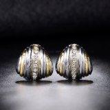Серьга ювелирных изделий способа оптового серебряного сплава формы треугольника плакировкой золота латунная