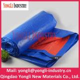 bâche de protection orange bleue de tissu de PE de qualité de 10mx12m