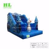 La vendita calda scherza il giocattolo che il tema congelato affascinante gonfiabile asciuga la trasparenza con un pupazzo di neve gigante affinchè i bambini giochi con i loro amici