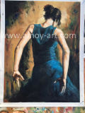 Reproductie van de Dansende Dame van Meesterwerken door Fabian-Perez