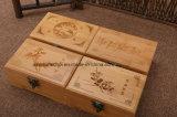 차 포장을%s 보통 색깔로 포장하는 간단한 소나무 나무로 되는 선물