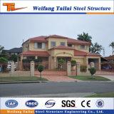 Chalet prefabricado de lujo modular de la estructura de acero de la casa del diseño de China