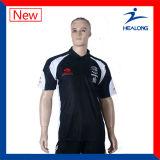 precio de fábrica Healong Logotipo bordado personalizado el engranaje de prendas de vestir para hombres camisas Polo