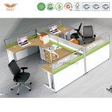 사업 가구 쉬운 사무실 4 사람 똑바른 책상 3 Dwr 자동차 Peds를 가진 열려있는 사무실 워크 스테이션