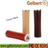 Neue reale Holz 2600mAh Li-Ionbatterieleistung-Bank-Aufladeeinheit mit RoHS