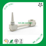 180 Degree Right Angel Adaptador 5/8 hembra a macho CATV Conector coaxial