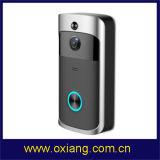 Sistema de Segurança Peephole Campainha Telefone com vídeo no anel de bateria sem fio WiFi em casa inteligente Intercomunicador Visual Câmara de campainha