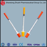 Verkaufende medizinische Behandlung-garantierte sterile spezielle Insulin-Einspritzung-Insulin-Spitzenspritze 0.5ml