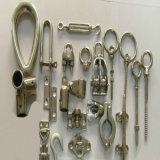 Roestvrij staal die Op zwaar werk berekende Cleat gieten - Dek/Boot/Jacht/Mariene Hardware