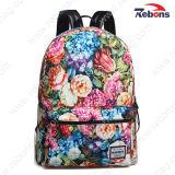 Мода печати Canvas Daypack Satchel Bag рюкзак для походов, во время поездок