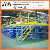 鋼鉄倉庫の多重レベル中二階ラック
