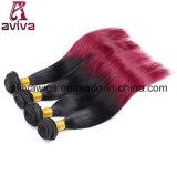 매끄러운 똑바른 파 100%년 Virgin 머리 Ombre 자연적인 머리 연장