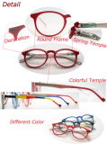 Ultimo Fashion Round Frame e Temple variopinto Ladies Reading Glasses (WRP507257)