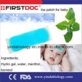 2015 Baby Care Gel refrescante Patch Fiebre azul Reducir fresca del gel del cojín durar hasta 10 horas para el bebé Dolor de cabeza y dolor de muelas