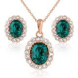 Het smaragdgroene Bergkristal nam Reeks van de Juwelen van de Manier van het Gouden Plateren de Kunstmatige toe