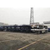 3 차축 40FT 평상형 트레일러 트레일러 수송 콘테이너 포트 기계장치
