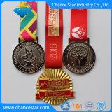 Pino de esmalte de alta qualidade personalizada Madals com Fita de Metal