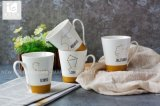 カスタマイズされた高品質の白い陶磁器のコーヒー・マグ/星の印のステッカーの印刷のコーヒー・マグ