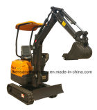 mini excavatrice de chenille de la piste 1400kg en caoutchouc à vendre