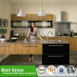 Acabamento de laca MDF modular armário de cozinha