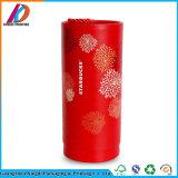 赤いボール紙の筒の円形の茶コーヒー食品等級包装ボックス