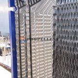 水晶粒子/ファイバーの粘着性がある中型の大きな隔たりの版の熱交換器