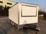 Новый 5 метров заключены концессионные продовольственной торговые автоматы для барбекю крыльцом прицепа