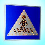 보행자를 위한 태양 교통 표지/LED 번쩍이는 도로 표지