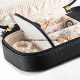 小さい旅行宝石箱の女性の女の子ののどの革Handbags