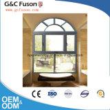 قوس سقف ألومنيوم شباك نافذة مع مرآة زجاج