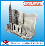 Titular do cartão de nome de metal da Singapura Titular do cartão de identificação de negócios em 3D