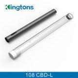 Pluma 108 disponibles Cbd-L Cbd Vaproizer de Vape de la pluma de Kingtons O con el tubo de los Ss