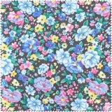 Couro da tela de pano da flor da cor para a sapata, saco (CF018090E)