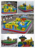 La corsa ad ostacoli esterna del parco di divertimenti scherza la trasparenza gonfiabile della città di divertimento (MIC-976)