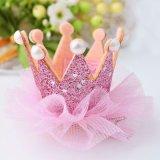 Adorável Bonitinha Meninas Crown Princess Encaixar Lace Pearl barbeiro