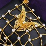 실제적인 금 도금된 구리 형식 여자 지르콘 종려 팔찌 R877