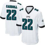 Abitudine nera bianca del pullover di football americano di verde del gioco dell'elite di Filadelfia 20 Brian Dawkins 22 Carroll 23 Mcleod dei bambini dei capretti delle donne del Mens qualsiasi nome qualsiasi numeri