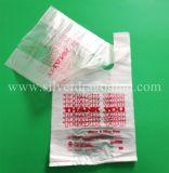 LDPE многоразовую пластмассовую футболка сувениры, благодарим вас сумку