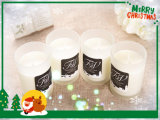 Vela de festas / vela de soja perfumada / vela de prato artesanal