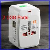 Ue globale universale Port dell'adattatore di corsa del caricatore del USB 2 noi convertitore di potenza BRITANNICO della spina dell'Au (CA110)