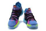 Multi-Color 2018 Kd 10 números de Oreo iglú Bhm hombres zapatillas de baloncesto Kd 10 X Elite mediados Kevin Durant zapatillas de deporte