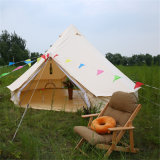 Im Freien Luxuxbaumwollsegeltuch-Familien-kampierendes Rundzelt mit vorderer Markise