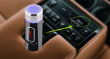 Audio de coche Bluetooth manos libres Reproductor de MP3 transmisor de FM