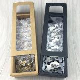 Caja de regalo papel de embalaje de dulces, postre de PVC Caja de regalo de papel Kraft