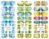 Etiqueta da arte do prego da água da flor da etiqueta do prego das etiquetas da arte do prego de transferência da água da cor da mistura