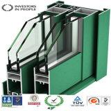 Profils en aluminium/en aluminium d'extrusion des bâtis de guichet en verre/porte/mur rideau