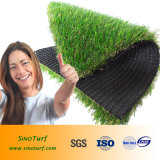 L'aménagement paysager pelouse artificielle, gazon synthétique, factice pour la décoration de jardin d'herbe, toit vert, quartier des affaires d'exposition