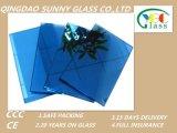vidro laminado matizado azul de cristal de 3-6+0.38/0.76+3-6mm