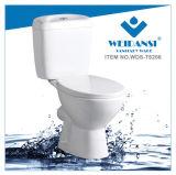 Керамические Weidansi промойте вниз P-Trap два туалета (WDS-T6206)