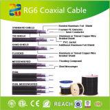Quad Escudo Cable coaxial RG6 para CATV / CCTV Equipos